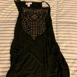 Maxi Black Maternity Dress